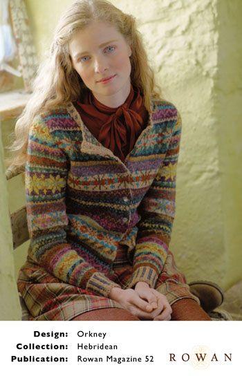 Marie Wallin - Rowan Portfolio- interesting colours.