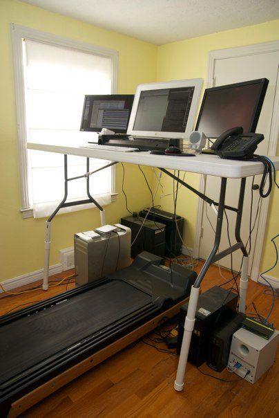 Treadmill desk - Imgur temp fix until we build shelving?