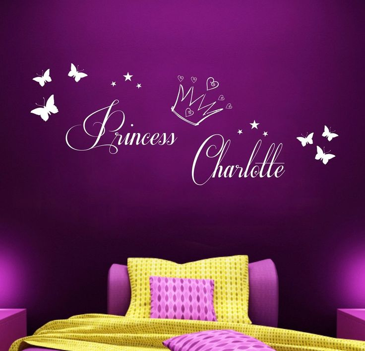 Personalised Princess - Vinyl Wall Art Sticker - Girls Bedroom Mural - Any Name $8.99 prefect for ashley