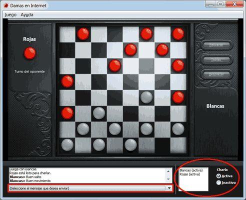 Juegos gratis de Windows 7: Damas en Internet