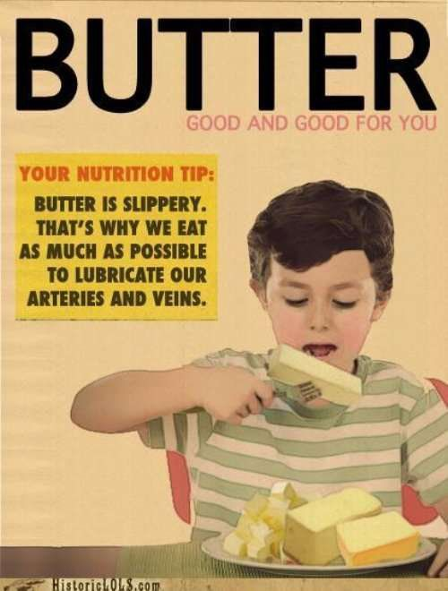 Vintage ad for butter