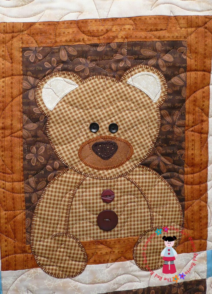 51 best Teddy Bear Quilts images on Pinterest | Toddler quilt ... : bear quilt patterns - Adamdwight.com