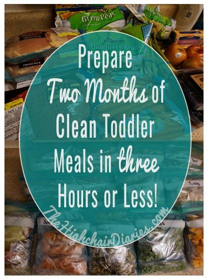With a strategic (yet, easy) bi-monthly meal prep plan and about a zillion freezer bags, you can spend 2-3 hours cooking and preparing enough clean eating food for your toddler to have roughly two snacks and a lunch for five days a week. Three hours or less? That's the equivalent of a Tuesday/Thursday college class. Easy peasy, and much more fun.