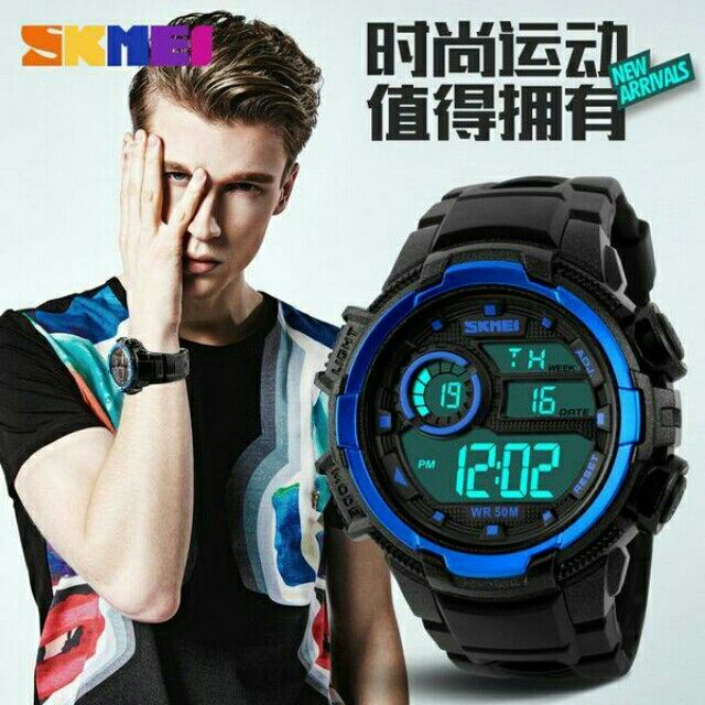 Saya menjual SKMEI S-Shock Sport Watch DG1113 - Black/Blue seharga Rp121.900. Dapatkan produk ini hanya di Shopee! {{product_link}} #ShopeeID