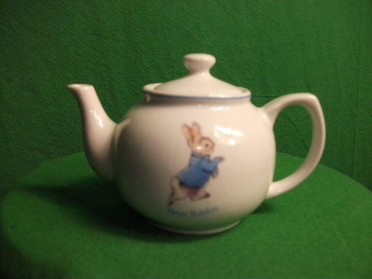 Ornamental Beatrix Potter, Peter Rabbit China Tea Pot (miniature)