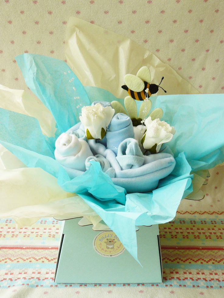 9 best nappy cakes for boys images on pinterest baby gifts baby say it with flowers baby this looks like a real flower arrangement and is ideal negle Images