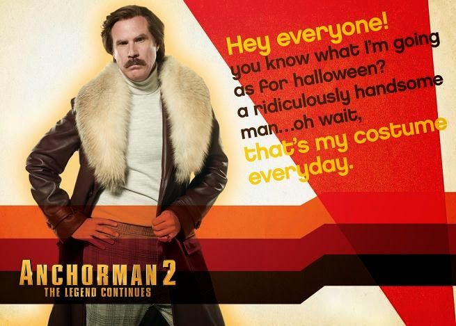 Mensajes De Halloween De Ron Burgundy En Anchorman 2: The Legends Continues | DiosCaficho.Com