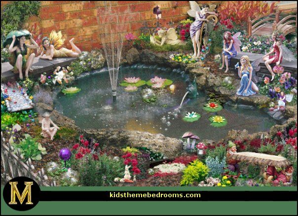 Fairy Garden Ideas Landscaping image of best fairy garden ideas landscaping Fairy Garden Around Water Feature