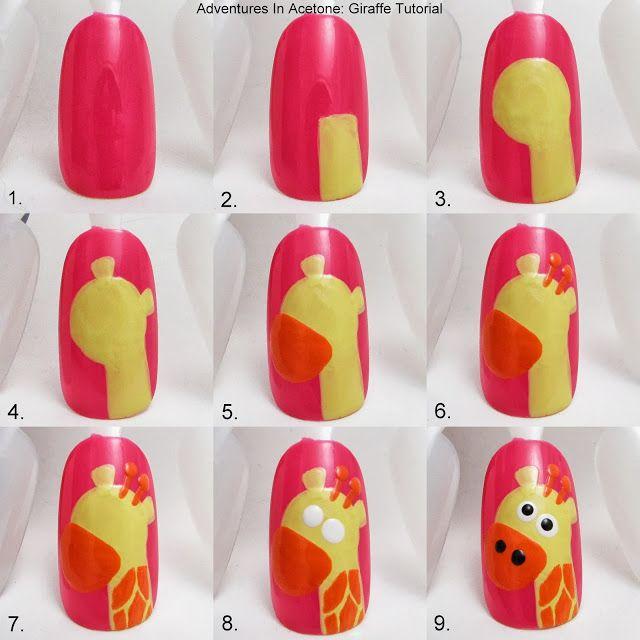 Adventures In Acetone: Tutorial Tuesday: Giraffe Nail Art!