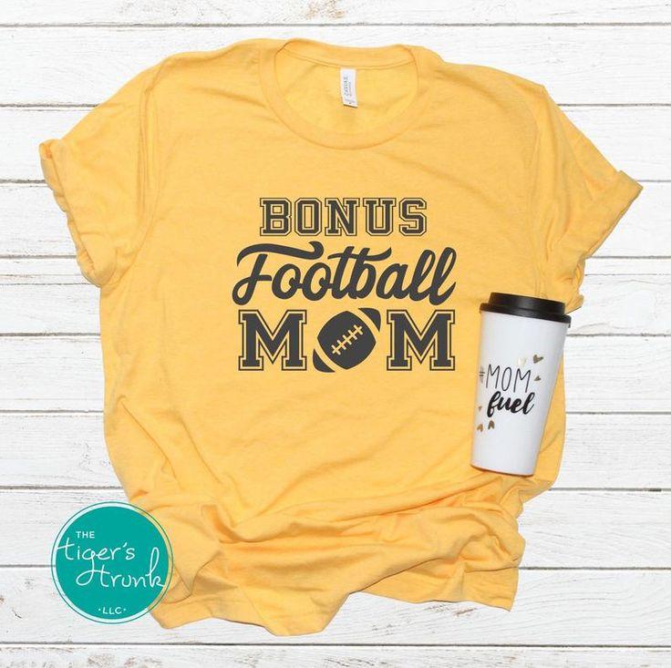 Bonus mom gift step mom shirt football mom shirt custom