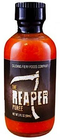 CaJohn's The Reaper Puree: Contains the Hottest Pepper on Earth!, measuring as high as 2,200,000 SHU. #CarolinaReaper #HotSauce