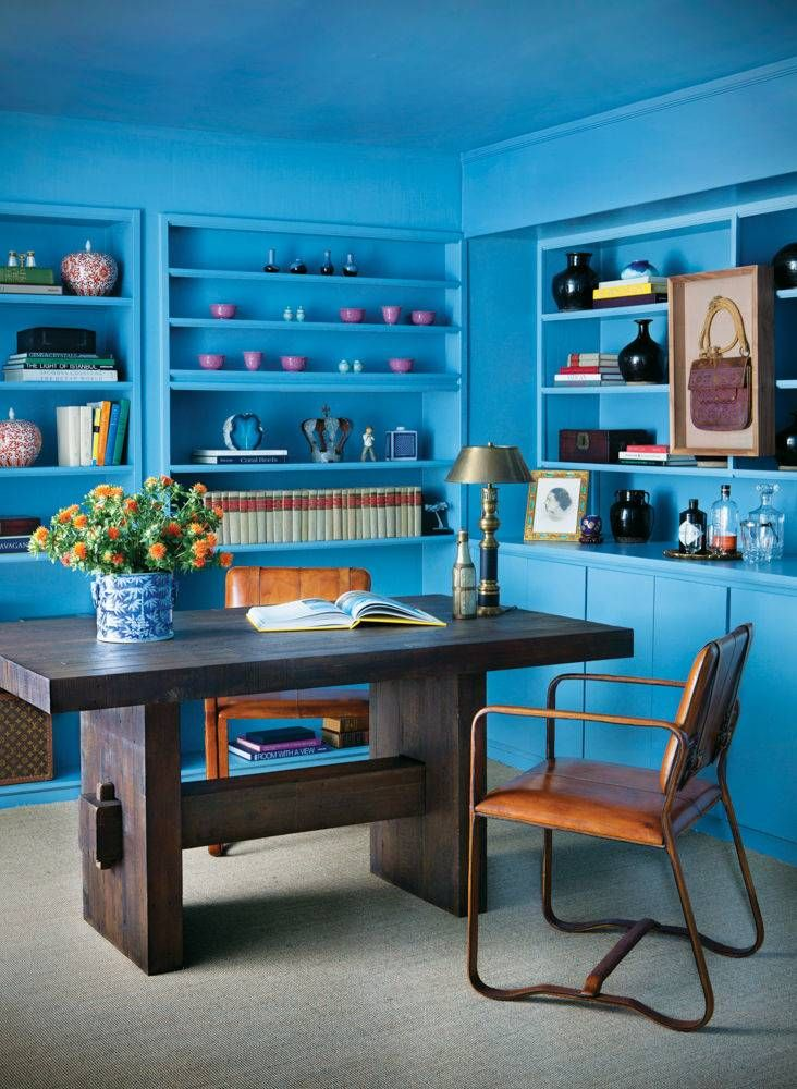 blue home office shop domino for the