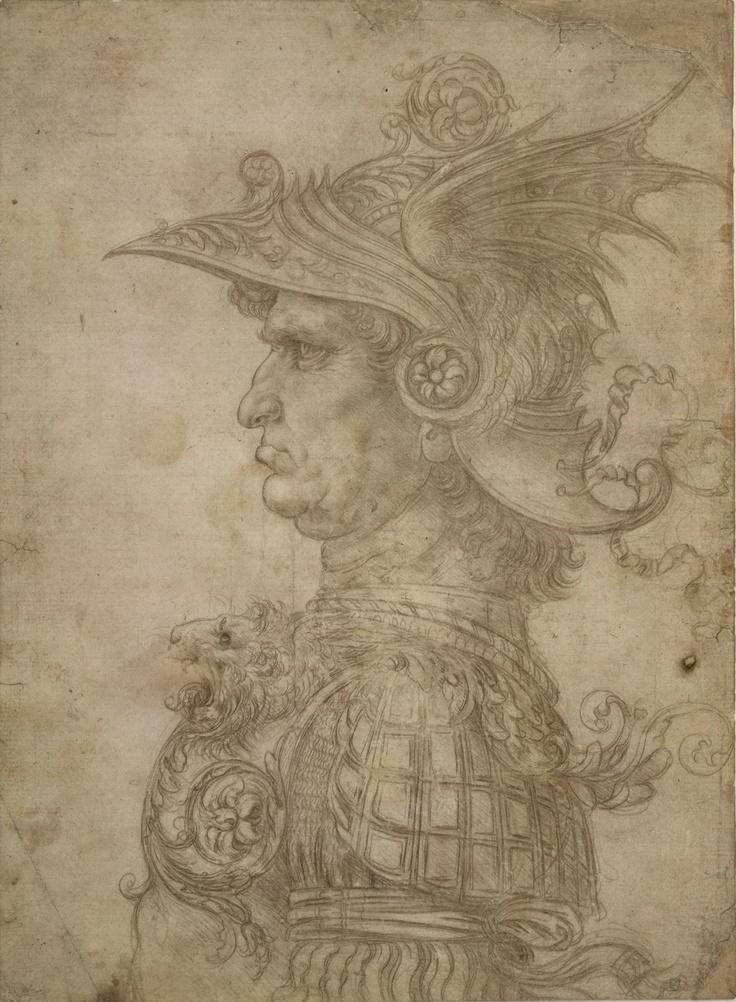 Head of a Warrior, ca. 1475-80  Leonardo da Vinci (Italian, 1452-1519)