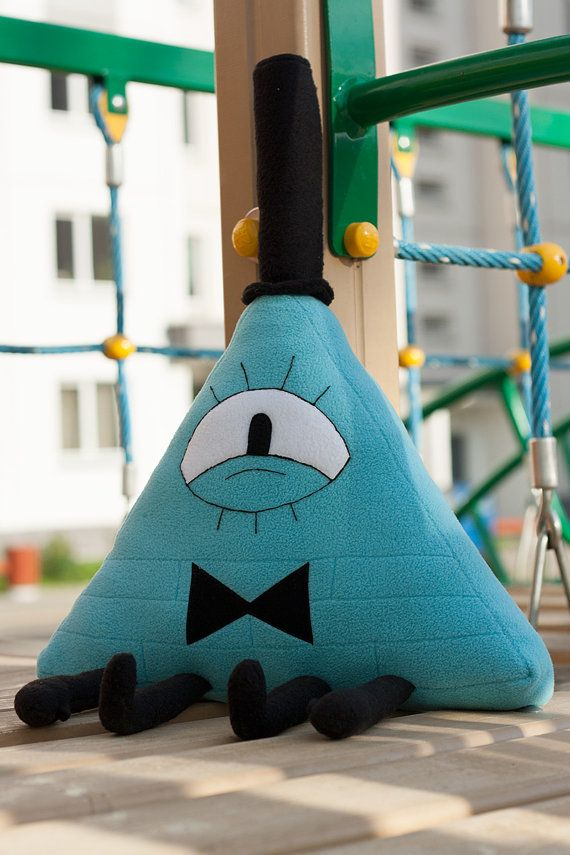 Plush toy Bill Cipher from a cartoon Gravity Falls Blue edition  An unusual triangle mostly for fans of the cartoon.  Dimensions: approximately 30 inches high and 20 inches wide.  Good quality and high-quality materials. No glue.  Additional service!  Inscriptions on toys, names or congratulations! If you want to give a toy to your friend for a special occasion or just write someones name on it then write me about it before ordering.  If you have any questions about the product or you wish…