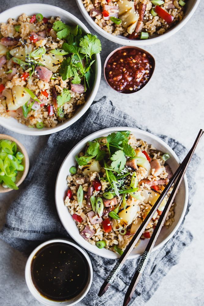 What should you do with leftover Holiday ham? Fried rice of course! It's bright and bold flavors are such a welcome retreat this time of year when rich and hearty food can tend to get monotonous.