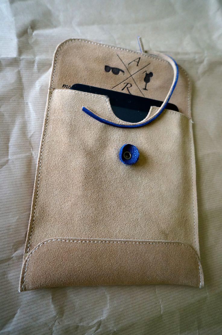 Pochette Ipad mini Custom Daim / Cuir DIY adriadict@gmail.com