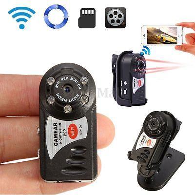 WIFI Mini DV IP Wireless Spy Cam Night Vision Camera Security For Android IOS EM