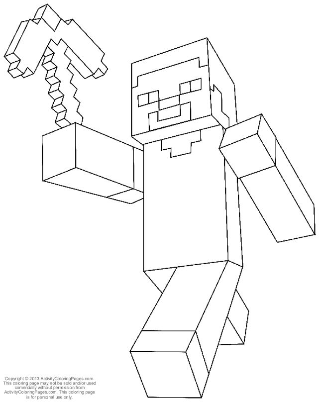 steve from minecraft coloring pages by teresa
