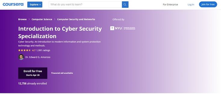 Best Cybersecurity Courses Online For Free Coursera Cyber Security Cyber Security Course Online Courses