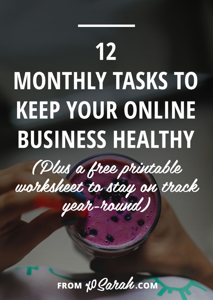 We all know those daily, weekly, monthly tips to keeping ourselves healthy. Drink eight glasses of water each day, exercise at least 30 minutes three times a week, have your teeth cleaned every six months, but what should you be doing on a regular basis to keep your business healthy?