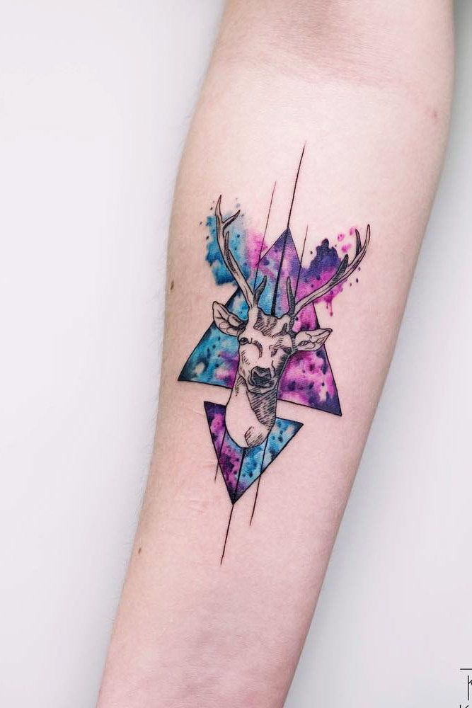 Geometric Galaxy Tattoo : geometric, galaxy, tattoo, Watercolor, #geometric, #gorgeous, #looking, #galaxy, #tattoo, #design, #ideas, #deer, #with51, Gorgeous, Looking, Tattoo…, Tattoos,, Tattoo, Designs,, Sleeve, Tattoos