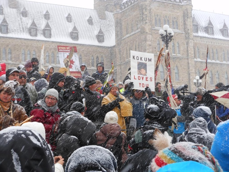 Powerful speakers with a powerful message for humanity at #idlenomore Parliament Hill Ottawa, ON, Canada