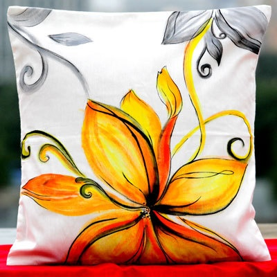 Hand Painted with ease.. Cushion covers of your style for your home !!