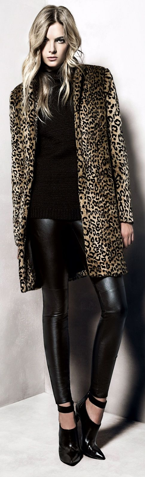 #animalprints Mango taps Ophelie Rupp for its Nov. 2012 Lookbook.