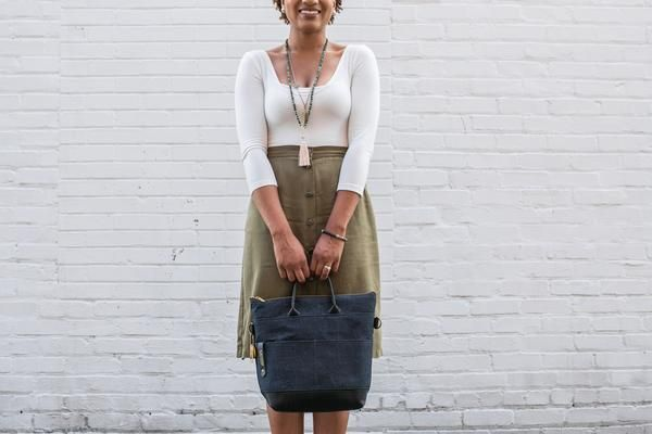 Handbag Made from Raw Denim+ Genuine BlackLeather This Post to Pillar product made our Top 10 Holiday Wish List this year! Check out a few more ofRosie's Fav