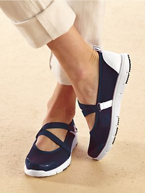 Propet Womens Mary Jane Sneakers - Women's Sneakers. Solutions.Navy Blue.