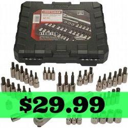 Craftsman 42 piece 1/4 & 3/8-inch Drive Bit & Torx Bit Socket Wrench Set only $29.99 - http://dealmama.com/2016/05/craftsman-42-piece-14-38-inch-drive-bit-torx-bit-socket-wrench-set-29-99/