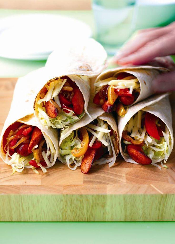 Frankfurter Fajitas - Create a sizzle with these spicy fajitas...