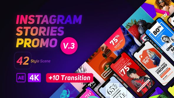 Videohive Instagram Stories Promo After Effects Template Instagram Story Template Best Instagram Stories Instagram Story