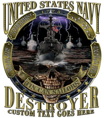 Tin Can Sailor Destroyer Military Shirt $19.95