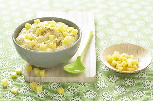 Purée de poireau et pomme de terre au #Nutribaby #recette #babymoov #diversification