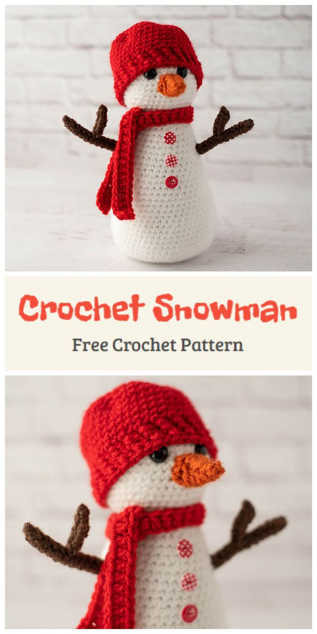 Amigurumi Christmas Snowman Free Pattern Crochet Kingdom Animal Knitting Patterns Crochet Christmas Decorations Crochet Decoration