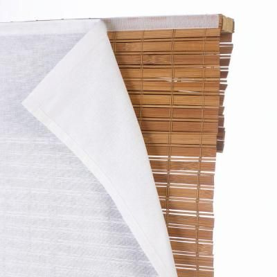 White Privacy Liner for grass shades. This would be easy to make with blackout fabric and velcro -- could even use no-sew tape.