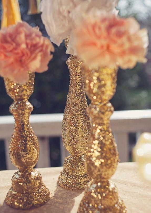 Bruiloft decoratie glitter