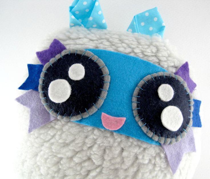 Cute Cozy Stuffed Animal Fluffy Ball Jah!! by JazzyRaccoon on Etsy