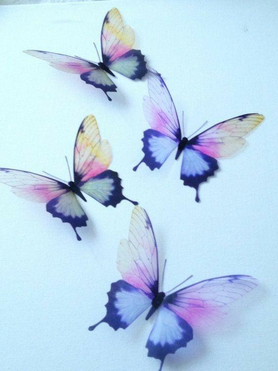Pin By Livia Reboucas On Butterfly 3d Butterfly Wall Art Butterfly Art Butterfly Wall Art