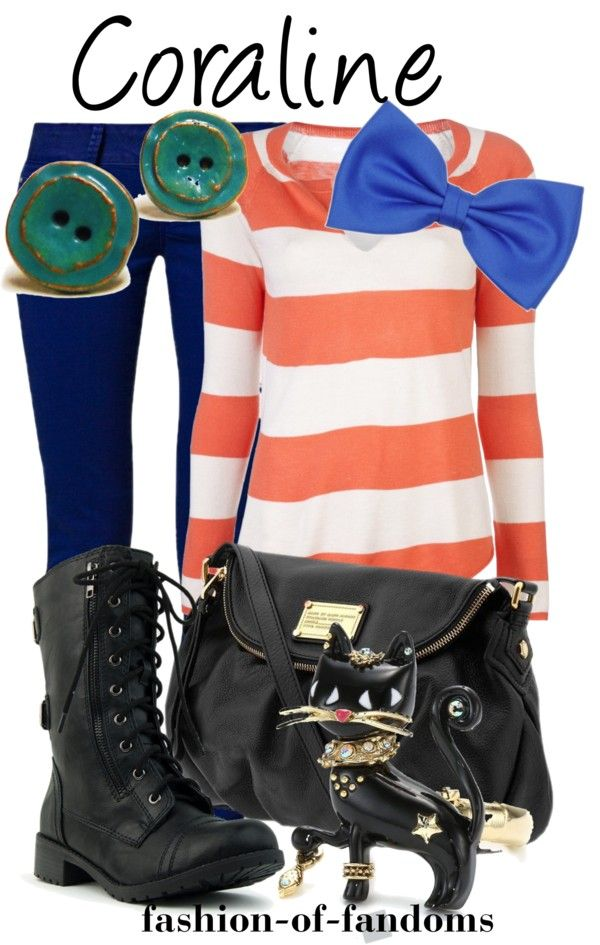 """""""Coraline"""" by fofandoms ❤ liked on Polyvore/cartoon clothes"""