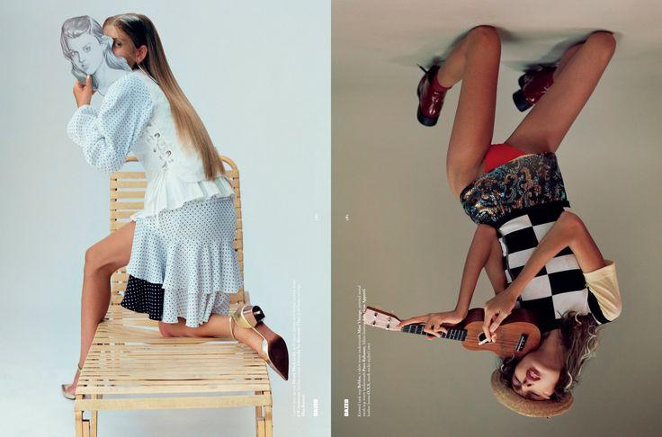 mirror kisser: ally ertel and alice metza by brianna capozzi for dazed winter 2015 | visual optimism; fashion editorials, shows, campaigns & more!