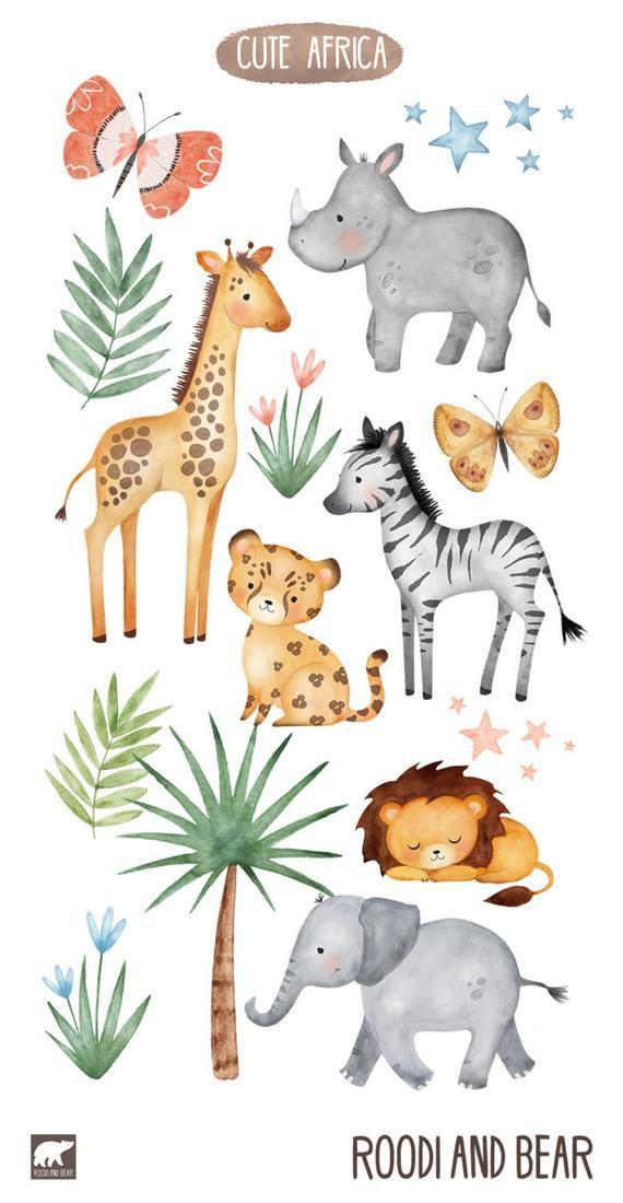 African Animals Jungle Safari In 2021 African Animals Animal Illustration Safari Animals