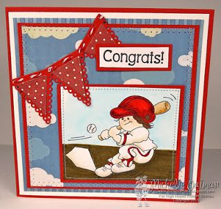 """High Hopes Stamps: """"Congrats"""" by Michelle using """"Gabriel Loves Baseball"""" (S524)"""