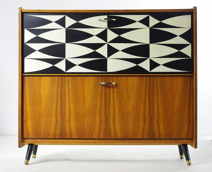 Szafka na buty ,mid century design, lata 60-te.