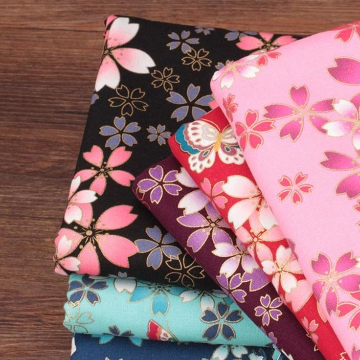 Cheap fabric diy, Buy Quality stamping fabric directly from China quilt patchwork Suppliers: CF24 1/2 Yard Thick Floral Butterfly Japanese Hot Stamping Fabric DIY Quilting Patchwork Handmade Sewing DIY Cotton Fabirc