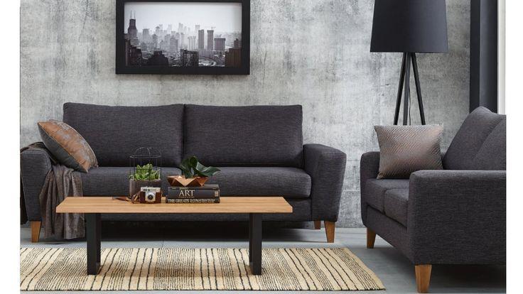 Karim Fabric Sofa, Domayne
