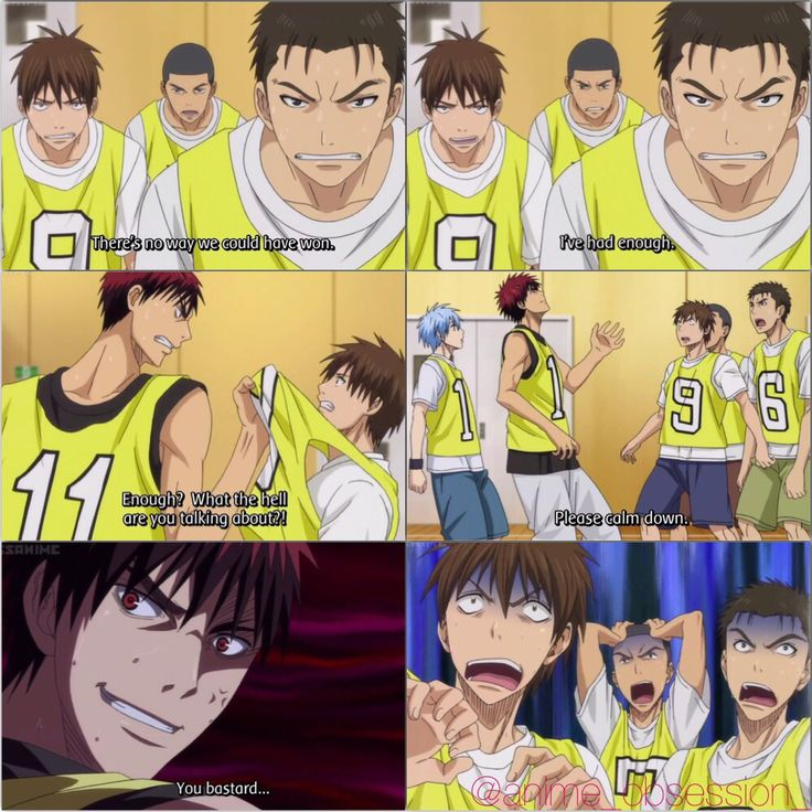 XD honestly I laughed so hard when Kuroko did that to Kagami.. XD [[Episode 1. Collage by @anime_obsession_]]