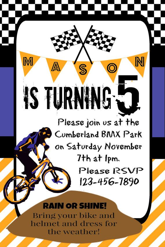 Best 25 Dirt bike party ideas – Motocross Birthday Invitations