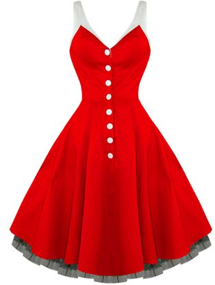 Red dress 50s style accessories